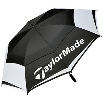 "TaylorMade TM Tour Double Canopy Golfschirm, Schwarz/Weiß/Grau, 64"" - 1"
