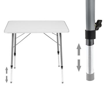 TecTake Campingtisch Gartentisch klappbar höhenverstellbar (LxBxH): ca. 80 x 60 x 68 cm - 2