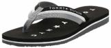 Tommy Hilfiger Damen Tommy Loves NY Beach Sandal Zehentrenner, Schwarz (Black 990), 39 EU - 1
