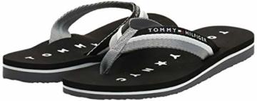 Tommy Hilfiger Damen Tommy Loves NY Beach Sandal Zehentrenner, Schwarz (Black 990), 39 EU - 7