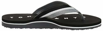 Tommy Hilfiger Damen Tommy Loves NY Beach Sandal Zehentrenner, Schwarz (Black 990), 39 EU - 8