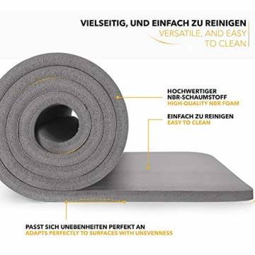 TRESKO Yogamatte Phthalatfrei - Gymnastikmatte rutschfest, Pilatesmatte Fitnessmatte mit Tragegurt, 185 x 60 x 1,0 cm - 7