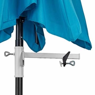 TRI Sonnenschirm-Butler, Balkonschirmhalterung für die Befestigung an Breiten Balkongeländern, weiß lackierter Stahl, für Gartenschirme bis Ø 38 mm | Sonnenschirmhalter - 2