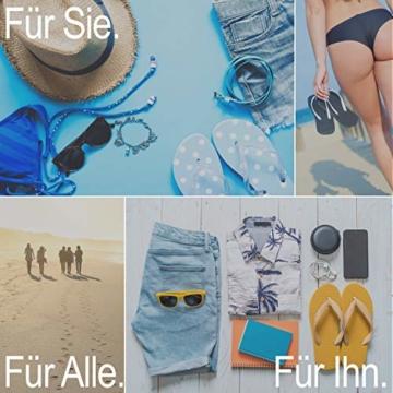 Ultrapower Flip-On Zehentrenner | Flip Flops | Badelatschen | Strandschuhe | Duschlatschen | Zehenstegpantolette | Bad | Sauna Schuhe | Sandalen | Blau/Rot | Gr.45 - 5