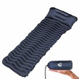 Unigear Camping Isomatte, Aufblasbare Luftmatratze Camping, Schlafmatte für Outdoor, Feuchtigkeitsbeständig Wasserdicht und rutschfest, MEHRWEG (Dunkelblau mit Kissen) - 1