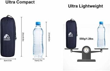 Unigear Camping Isomatte, Aufblasbare Luftmatratze Camping, Schlafmatte für Outdoor, Feuchtigkeitsbeständig Wasserdicht und rutschfest, MEHRWEG (Dunkelblau mit Kissen) - 5