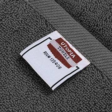 Utopia Towels - 4er Pack Badetuch Set Badetücher aus Baumwolle 600 g/m² - 69 x 137 cm (Grau) - 2