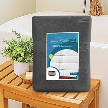 Utopia Towels - 4er Pack Badetuch Set Badetücher aus Baumwolle 600 g/m² - 69 x 137 cm (Grau) - 3