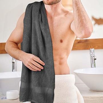 Utopia Towels - 4er Pack Badetuch Set Badetücher aus Baumwolle 600 g/m² - 69 x 137 cm (Grau) - 4