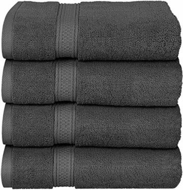 Utopia Towels - 4er Pack Badetuch Set Badetücher aus Baumwolle 600 g/m² - 69 x 137 cm (Grau) - 1
