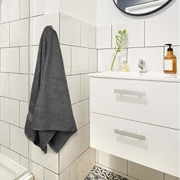 Utopia Towels - 4er Pack Badetuch Set Badetücher aus Baumwolle 600 g/m² - 69 x 137 cm (Grau) - 8