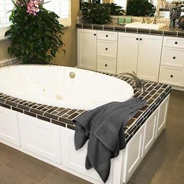 Utopia Towels - 4er Pack Badetuch Set Badetücher aus Baumwolle 600 g/m² - 69 x 137 cm (Grau) - 9