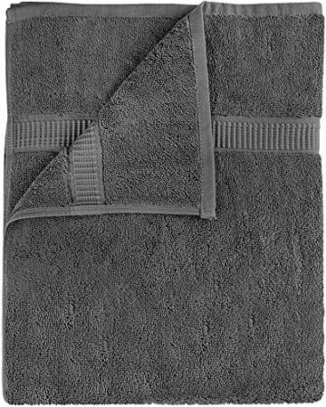 Utopia Towels - Badetuch groß aus Baumwolle 600 g/m², 2er Pack - Duschtuch, 90 x 180 cm (Grau) - 2