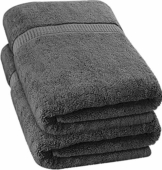 Utopia Towels - Badetuch groß aus Baumwolle 600 g/m², 2er Pack - Duschtuch, 90 x 180 cm (Grau) - 1