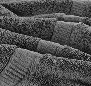 Utopia Towels - Badetuch groß aus Baumwolle 600 g/m², 2er Pack - Duschtuch, 90 x 180 cm (Grau) - 7