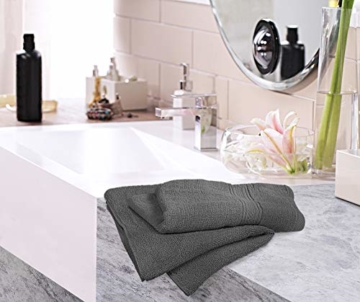 Utopia Towels - Handtücher Set aus Baumwolle 600 GSM - 100% Baumwolle, 41 x 71 cm - 6er Pack (Grau) - 3