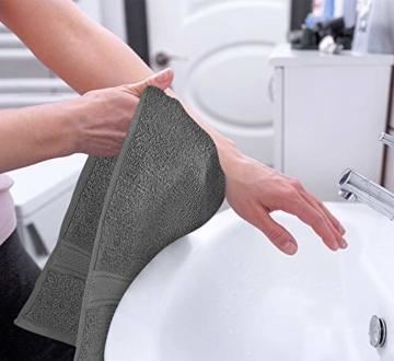 Utopia Towels - Handtücher Set aus Baumwolle 600 GSM - 100% Baumwolle, 41 x 71 cm - 6er Pack (Grau) - 4
