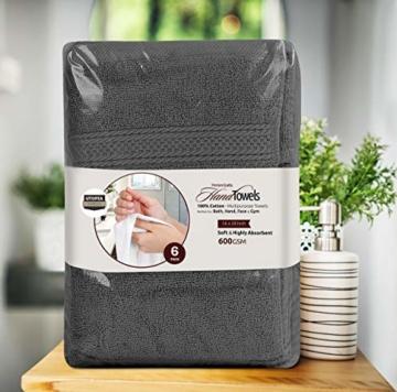 Utopia Towels - Handtücher Set aus Baumwolle 600 GSM - 100% Baumwolle, 41 x 71 cm - 6er Pack (Grau) - 7