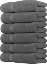 Utopia Towels - Handtücher Set aus Baumwolle 700 GSM - 100% Baumwolle, 41 x 71 cm - 6er Pack (Grau) - 1