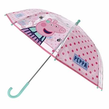 Vadobag Peppa Pig Kinder Stockschirm Regenschirm Schirm manuell transparent - 1