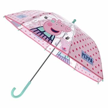 Vadobag Peppa Pig Kinder Stockschirm Regenschirm Schirm manuell transparent - 3