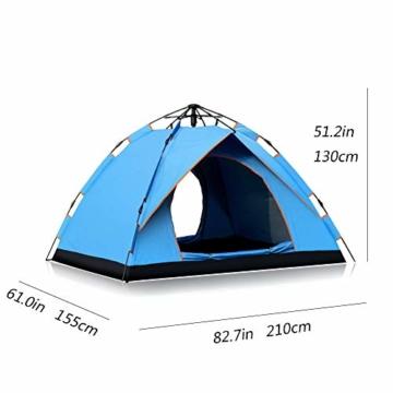 Vlook Wasserdichtes Campingzelt, hydraulische Regenschutzzelte, einlagige Doppeltürstruktur, komfortabel und atmungsaktiv, für Strandcamping - 2