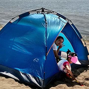 Vlook Wasserdichtes Campingzelt, hydraulische Regenschutzzelte, einlagige Doppeltürstruktur, komfortabel und atmungsaktiv, für Strandcamping - 4