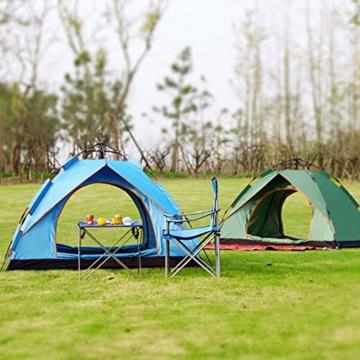 Vlook Wasserdichtes Campingzelt, hydraulische Regenschutzzelte, einlagige Doppeltürstruktur, komfortabel und atmungsaktiv, für Strandcamping - 6
