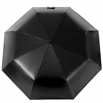Volles Licht abschirmende Doppelsonnenschirm-Regenschirm Falten 3 Tragbare Rainy Regenschirme Sonnenschirm Folding Sonnenschirm - 2