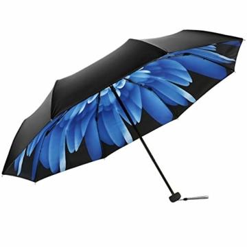 Volles Licht abschirmende Doppelsonnenschirm-Regenschirm Falten 3 Tragbare Rainy Regenschirme Sonnenschirm Folding Sonnenschirm - 3