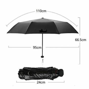 Volles Licht abschirmende Doppelsonnenschirm-Regenschirm Falten 3 Tragbare Rainy Regenschirme Sonnenschirm Folding Sonnenschirm - 4