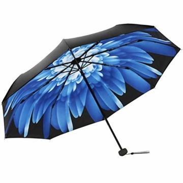 Volles Licht abschirmende Doppelsonnenschirm-Regenschirm Falten 3 Tragbare Rainy Regenschirme Sonnenschirm Folding Sonnenschirm - 1