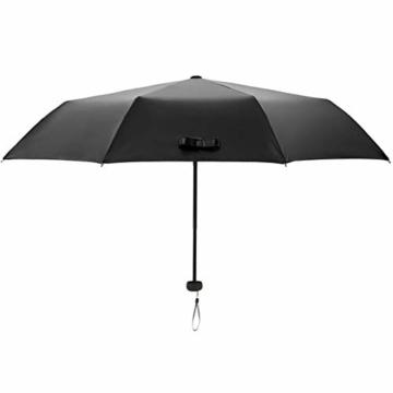 Volles Licht abschirmende Doppelsonnenschirm-Regenschirm Falten 3 Tragbare Rainy Regenschirme Sonnenschirm Folding Sonnenschirm - 5