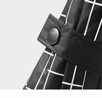 Y-S Regenschirm, Automatikschirm, Sommerschirm, Regenschirm für Männer und Frauen, Doppel-Sonnenschirm, Modetrendschirm, Sonnenschutzschirm, Blau, Weiß - 3