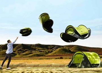 Zenph Pop Up Zelt, Automatisches Outdoor-Zelt für 2-3 Personen Schnellöffnungs Wurfzelt mit Tragetasche, Grüne - 3