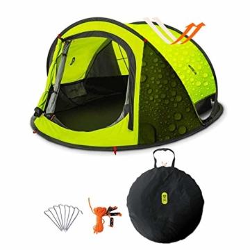 Zenph Pop Up Zelt, Automatisches Outdoor-Zelt für 2-3 Personen Schnellöffnungs Wurfzelt mit Tragetasche, Grüne - 1