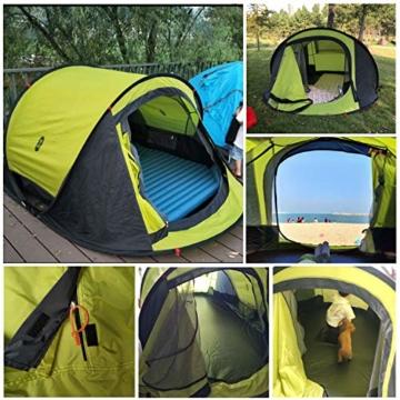 Zenph Pop Up Zelt, Automatisches Outdoor-Zelt für 2-3 Personen Schnellöffnungs Wurfzelt mit Tragetasche, Grüne - 6