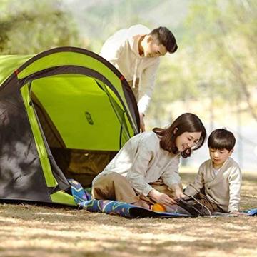 Zenph Pop Up Zelt, Automatisches Outdoor-Zelt für 2-3 Personen Schnellöffnungs Wurfzelt mit Tragetasche, Grüne - 7