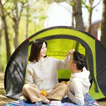 Zenph Pop Up Zelt, Automatisches Outdoor-Zelt für 2-3 Personen Schnellöffnungs Wurfzelt mit Tragetasche, Grüne - 8