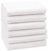 ZOLLNER 6er Set Handtücher, 50x100 cm 100% Baumwolle, 400 g/qm, weiß - 1