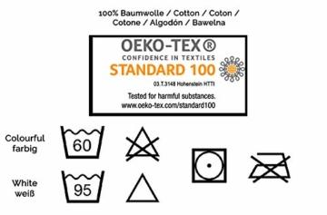 ZOLLNER 6er Set Handtücher, 50x100 cm 100% Baumwolle, 400 g/qm, weiß - 5