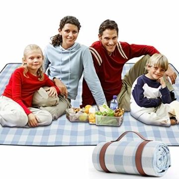 """Zorin Picknickdecke 150 x 200 cm(60""""x 79"""") Stranddecke wasserdichte Schnelles Trocknen Picknick Matte für den Strand Outdoor Camping Piknicke und Wanderungen - 1"""