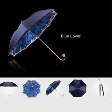 ZY Regen Und Regen Dual-use-Regenschirm Mit Langem Griff Doppel-Sonnenschirm Goldkugelgriff Für Damen Sonnenschutz Uv-regenschirme High-end-Regen- Und Regenschirm - 3
