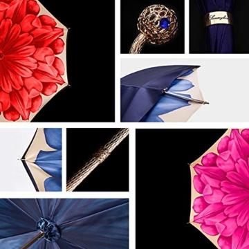 ZY Regen Und Regen Dual-use-Regenschirm Mit Langem Griff Doppel-Sonnenschirm Goldkugelgriff Für Damen Sonnenschutz Uv-regenschirme High-end-Regen- Und Regenschirm - 4