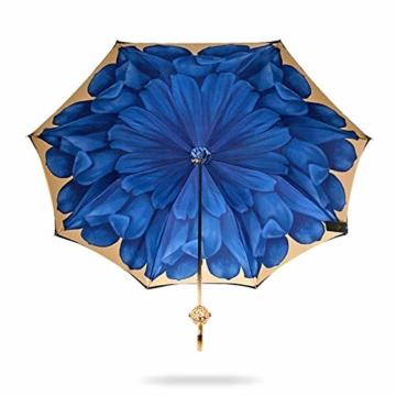 ZY Regen Und Regen Dual-use-Regenschirm Mit Langem Griff Doppel-Sonnenschirm Goldkugelgriff Für Damen Sonnenschutz Uv-regenschirme High-end-Regen- Und Regenschirm - 5