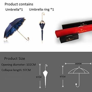 ZY Regen Und Regen Dual-use-Regenschirm Mit Langem Griff Doppel-Sonnenschirm Goldkugelgriff Für Damen Sonnenschutz Uv-regenschirme High-end-Regen- Und Regenschirm - 6