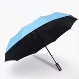 ZYD Vollautomatische Schirme für Männer und Frauen Vinyl Sonnenschirm 10 Knochen 3 Doppelsonnenschirm Falten erhöhen,E - 1