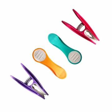 48 Wäscheklammern Soft Grip Softgrip Soft Touch Softtouch (Lila, Türkis, Gelb, Pink, Weiß) - 3