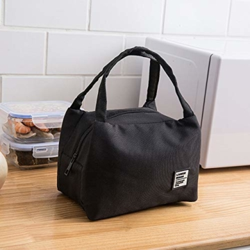 Allegorly Kühltasche Klein Leicht Lunch Tasche Isoliertasche Faltbar Wasserdicht Reißverschluss Lunchtasche klein Isoliertasche Lunchbag Thermotasche für Arbeit Schule und unterwegs - 3
