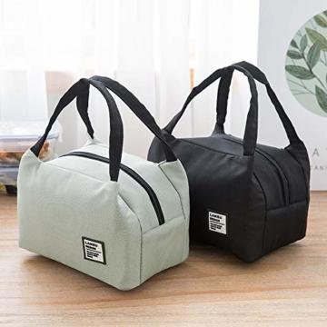 Allegorly Kühltasche Klein Leicht Lunch Tasche Isoliertasche Faltbar Wasserdicht Reißverschluss Lunchtasche klein Isoliertasche Lunchbag Thermotasche für Arbeit Schule und unterwegs - 6